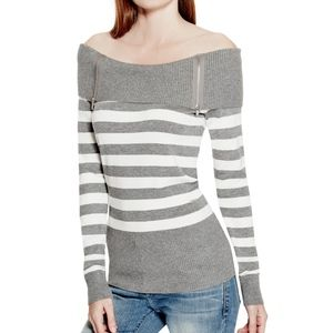 NWT GUESS  Off The Shoulder Sweater  M